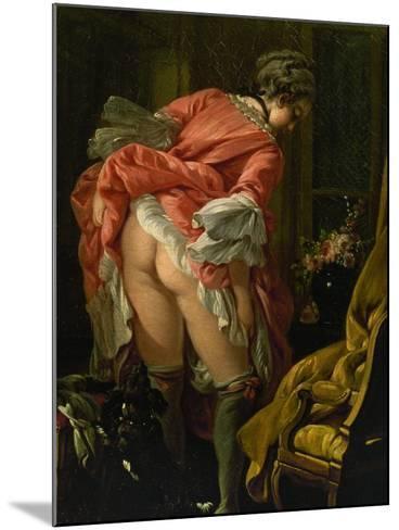 The Raised Skirt, 1742-Francois Boucher-Mounted Giclee Print