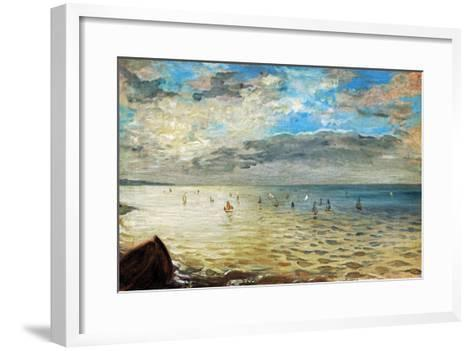 The Sea Seen from Dieppe, Ca-Eugene Delacroix-Framed Art Print