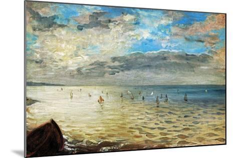 The Sea Seen from Dieppe, Ca-Eugene Delacroix-Mounted Giclee Print