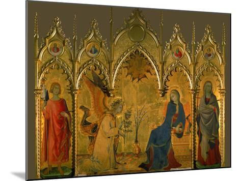 The Annunciation, Saints Asano and Margaret, Prophets Jeremiah, Ezechiel, Isaiah, and Daniel-Simone Martini-Mounted Giclee Print