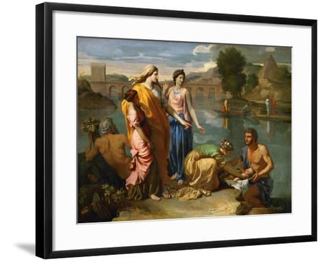 Moses Saved from the Floods of the Nile by the Pharaoh's Daughter-Nicolas Poussin-Framed Art Print