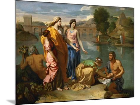 Moses Saved from the Floods of the Nile by the Pharaoh's Daughter-Nicolas Poussin-Mounted Giclee Print