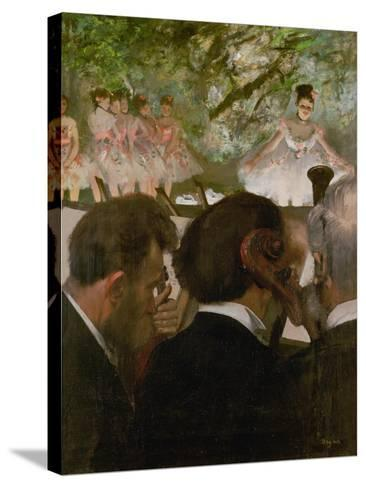 The Orchestra, 1870-1871 and 1874-1876-Edgar Degas-Stretched Canvas Print