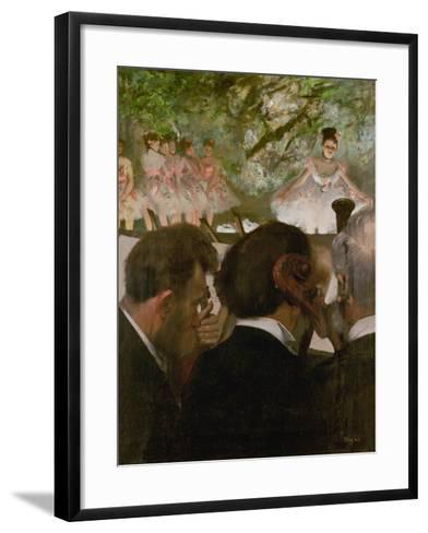 The Orchestra, 1870-1871 and 1874-1876-Edgar Degas-Framed Art Print