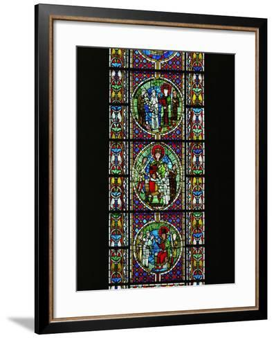 The Judgement of King Solomon, from the North Transept, Late 12th CE--Framed Art Print