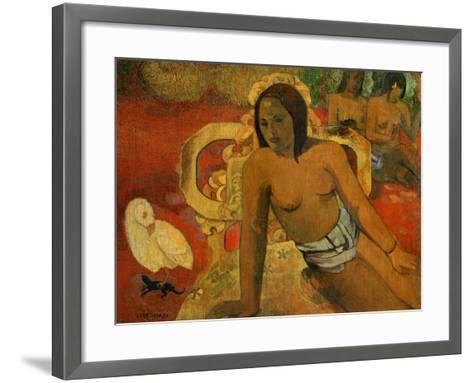 Vairumati, 1897-Paul Gauguin-Framed Art Print