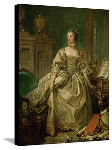 Madame De Pompadour (1721-1764)-Francois Boucher-Stretched Canvas Print
