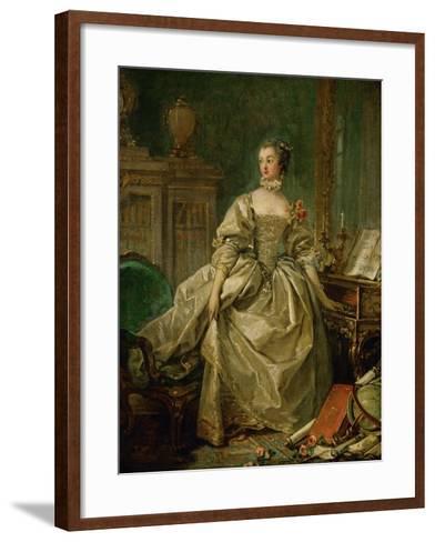 Madame De Pompadour (1721-1764)-Francois Boucher-Framed Art Print