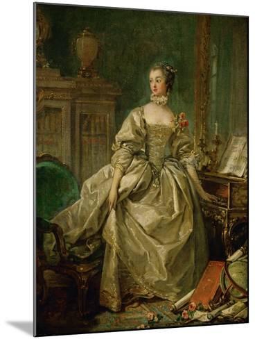 Madame De Pompadour (1721-1764)-Francois Boucher-Mounted Giclee Print