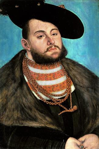 Johann Friedrich the Magnanimous (1503-1554), Elector of Saxony Since 1532-Lucas Cranach the Elder-Stretched Canvas Print