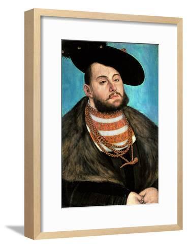 Johann Friedrich the Magnanimous (1503-1554), Elector of Saxony Since 1532-Lucas Cranach the Elder-Framed Art Print