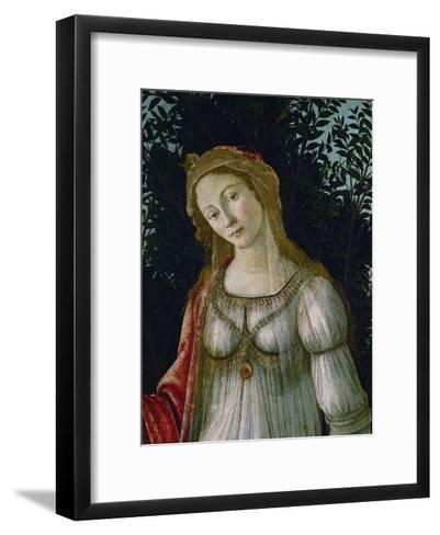 A Woman, Central Figure, Detail from Primavera-Sandro Botticelli-Framed Art Print