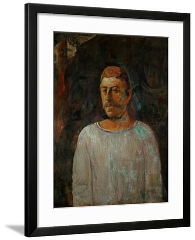 Self-Portrait, 1896-Paul Gauguin-Framed Art Print