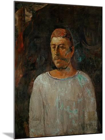 Self-Portrait, 1896-Paul Gauguin-Mounted Giclee Print