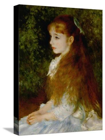 Little Irene, Portrait of the 8 Year-Old Daughter of the Banker Cahen D'Anvers, 1880-Pierre-Auguste Renoir-Stretched Canvas Print