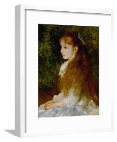 Little Irene, Portrait of the 8 Year-Old Daughter of the Banker Cahen D'Anvers, 1880-Pierre-Auguste Renoir-Framed Art Print