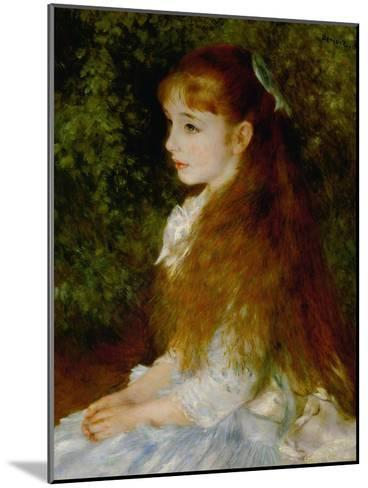 Little Irene, Portrait of the 8 Year-Old Daughter of the Banker Cahen D'Anvers, 1880-Pierre-Auguste Renoir-Mounted Giclee Print