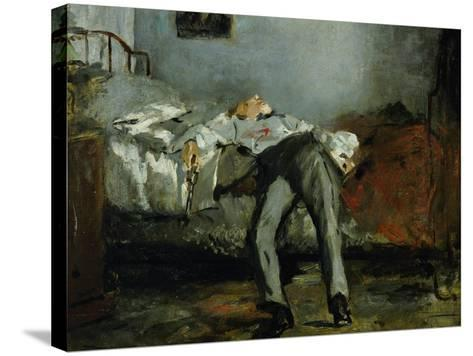 The Suicide-Edouard Manet-Stretched Canvas Print