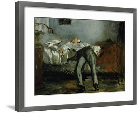 The Suicide-Edouard Manet-Framed Art Print