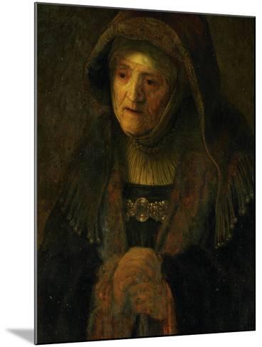 The Artist's Mother, as Prophetess Hannah-Rembrandt van Rijn-Mounted Giclee Print