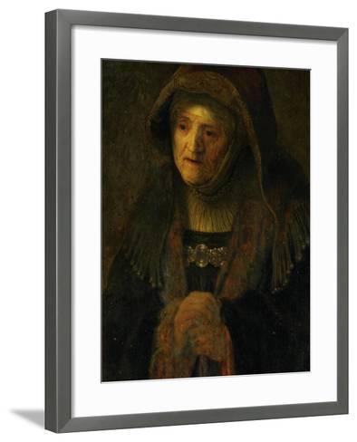 The Artist's Mother, as Prophetess Hannah-Rembrandt van Rijn-Framed Art Print