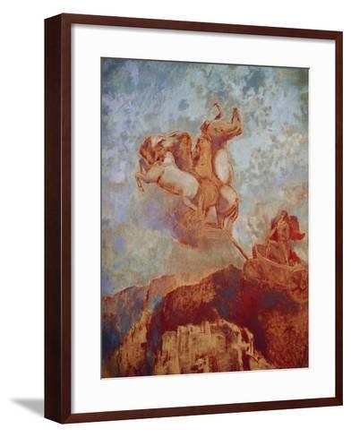 Chariot of Apollo, 1909-Odilon Redon-Framed Art Print