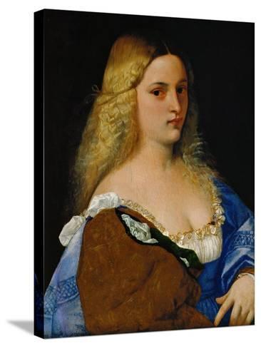 Violante-Titian (Tiziano Vecelli)-Stretched Canvas Print