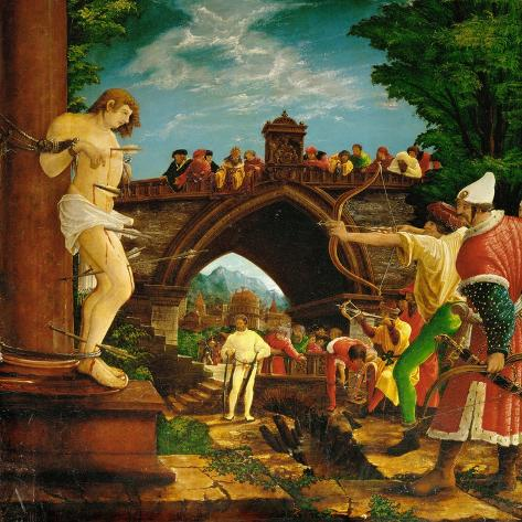 The Martyrdom of Saint Sebastian, from the Saint Sebastian Altar, 1518-Albrecht Altdorfer-Stretched Canvas Print