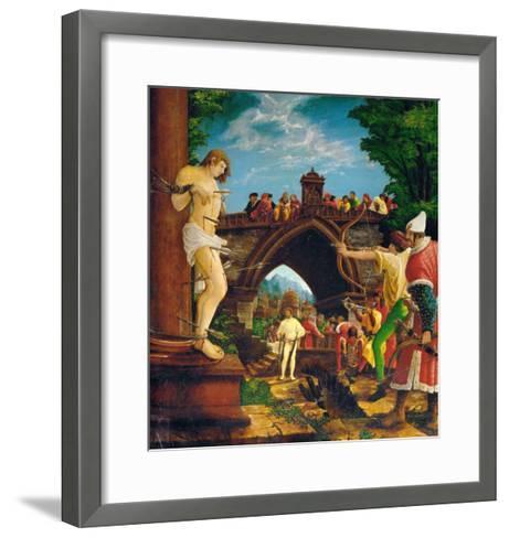 The Martyrdom of Saint Sebastian, from the Saint Sebastian Altar, 1518-Albrecht Altdorfer-Framed Art Print