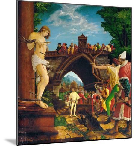 The Martyrdom of Saint Sebastian, from the Saint Sebastian Altar, 1518-Albrecht Altdorfer-Mounted Giclee Print