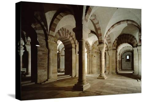 Crypt of Speyer Cathedral, Begun 1030 by Konrad II--Stretched Canvas Print