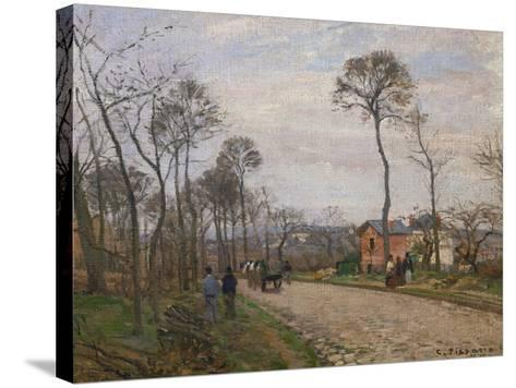 The Road to Louveciennes, 1870-Camille Pissarro-Stretched Canvas Print