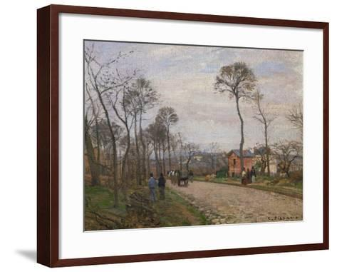The Road to Louveciennes, 1870-Camille Pissarro-Framed Art Print