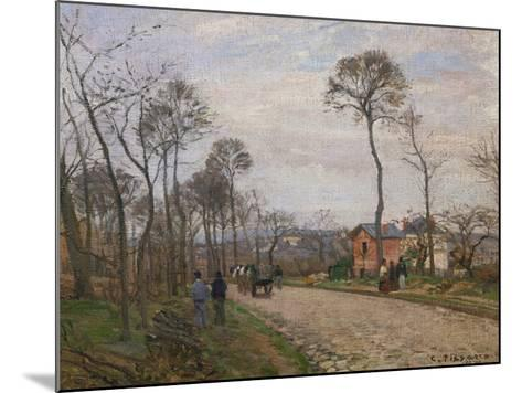 The Road to Louveciennes, 1870-Camille Pissarro-Mounted Giclee Print