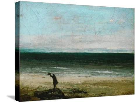Palavas or the Artist by the Sea, 1854-Gustave Courbet-Stretched Canvas Print