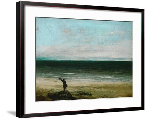 Palavas or the Artist by the Sea, 1854-Gustave Courbet-Framed Art Print