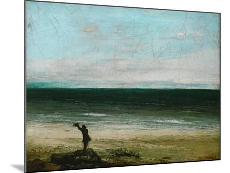 Palavas or the Artist by the Sea, 1854-Gustave Courbet-Mounted Giclee Print