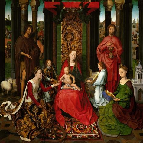 Sacra Conversazione, Altarpiece of St. John the Baptist and St. John the Evangelist, 1474-79-Hans Memling-Stretched Canvas Print