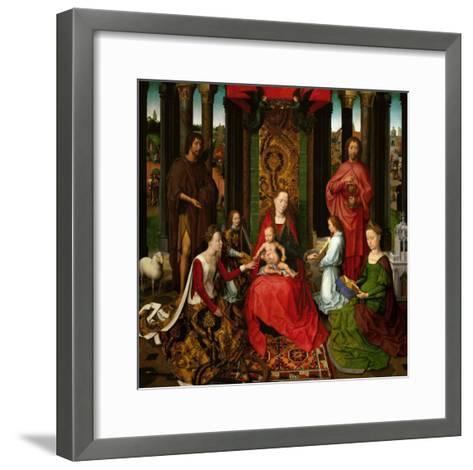 Sacra Conversazione, Altarpiece of St. John the Baptist and St. John the Evangelist, 1474-79-Hans Memling-Framed Art Print
