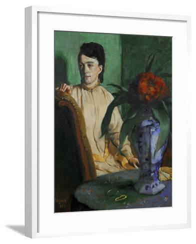 Woman with a Chinese Vase, 1872-Edgar Degas-Framed Art Print