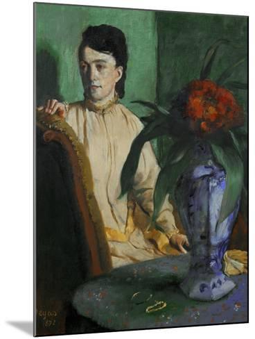 Woman with a Chinese Vase, 1872-Edgar Degas-Mounted Giclee Print