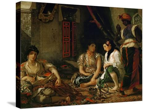 The Women of Algiers in Their Apartment-Eugene Delacroix-Stretched Canvas Print