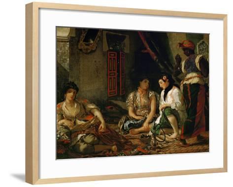 The Women of Algiers in Their Apartment-Eugene Delacroix-Framed Art Print