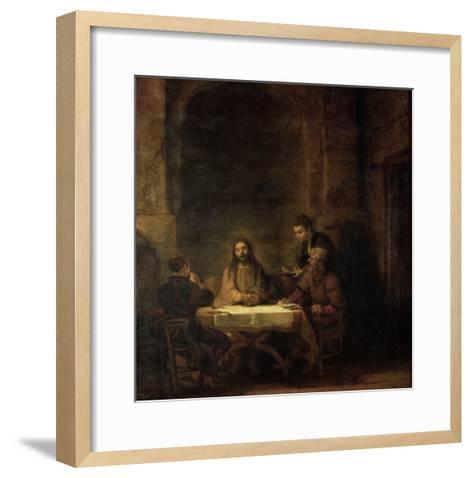 The Disciples at Emmaus, 1648-Rembrandt van Rijn-Framed Art Print