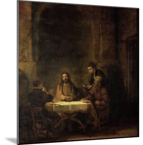The Disciples at Emmaus, 1648-Rembrandt van Rijn-Mounted Giclee Print