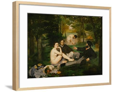 Dejeuner Sur L'Herbe (Luncheon on the Grass), 1863-Edouard Manet-Framed Art Print