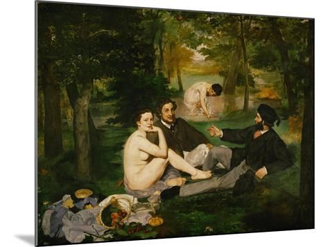 Dejeuner Sur L'Herbe (Luncheon on the Grass), 1863-Edouard Manet-Mounted Giclee Print
