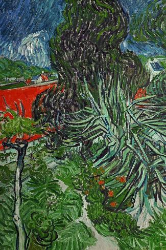 Dr. Paul Gachet's Garden at Auvers-Sur-Oise, c.1890-Vincent van Gogh-Stretched Canvas Print