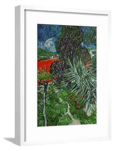Dr. Paul Gachet's Garden at Auvers-Sur-Oise, c.1890-Vincent van Gogh-Framed Art Print