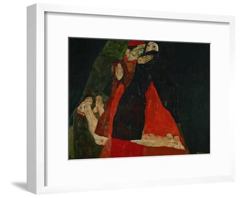 Cardinal and Nun (Liebkosung), 1912-Egon Schiele-Framed Art Print